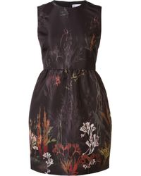 RED Valentino | Black Coral Print Dress | Lyst