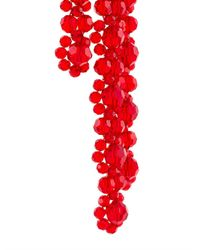 Simone Rocha | Red Floral Motif Pendant Earrings | Lyst