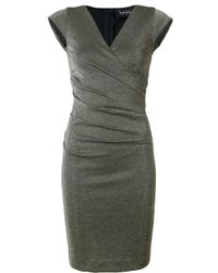 Nicole Miller | Metallic (grey) Fitted Dress | Lyst