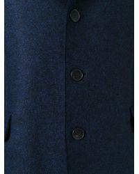 Harris Wharf London | Blue 'chester' Pressed Coat for Men | Lyst