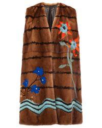 Fendi | Brown Botanical Garden Sleeveless Coat | Lyst