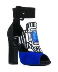 Pierre Hardy - Blue Embellished Sandals - Lyst