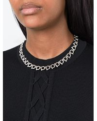 Ferragamo - Metallic 'gancini Necklace - Lyst