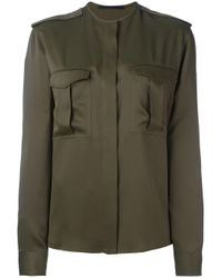 Haider Ackermann | Green Cargo Pocket Shirt | Lyst