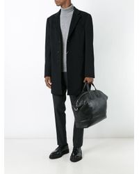 Armani - Black Single Breasted Coat for Men - Lyst
