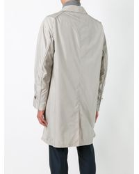 Armani - Blue Concealed Fastening Raincoat for Men - Lyst