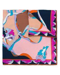 Emilio Pucci - Blue Abstract Print Foulard - Lyst
