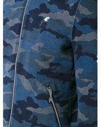 Loveless - Blue Camouflage Print Zipped Jacket for Men - Lyst