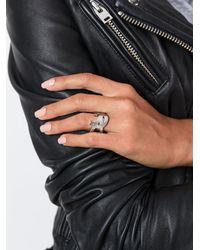 Saint Laurent - Metallic 'monogram' Ring - Lyst