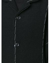 Yohji Yamamoto - Black Buttoned Long Coat - Lyst