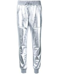 Love Moschino | Metallic (grey) Track Pants | Lyst