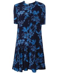 Stella McCartney   Blue - Asymmetric Side Skirt Dress - Women - Silk - 44   Lyst