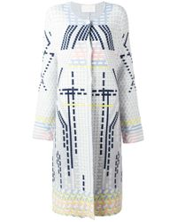 Peter Pilotto - Gray Geometric Wool-Blend Coat - Lyst