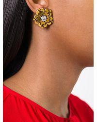 Rada' - Metallic Stone Embellished Earrings - Lyst