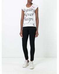 Philipp Plein - White 'brilliant' T-shirt - Lyst
