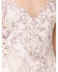 Notte by Marchesa - Pink Embroidered Gown - Lyst