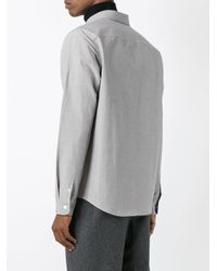 A.P.C. - Brown Chest Pocket Shirt for Men - Lyst