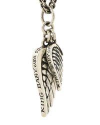 King Baby Studio - Metallic Double Wing Pendant Necklace for Men - Lyst