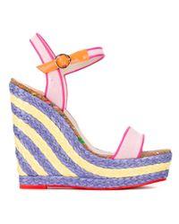 Sophia Webster | Multicolor 'lucita Sand' Wedge Sandals | Lyst