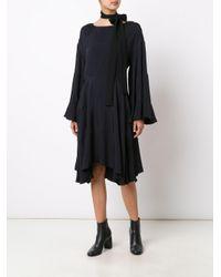Chloé - Blue Loose Fit Ruffled Dress - Lyst