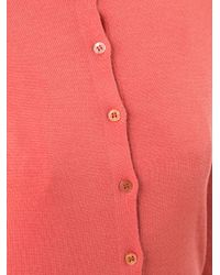 Carolina Herrera | Pink Three Quarter Sleeve Cardigan | Lyst