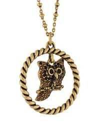 Marc Jacobs - Metallic Owl Charm Necklace - Lyst