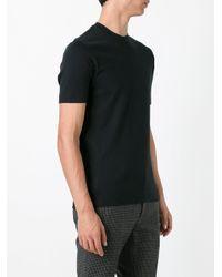Zanone - Black Plain T-shirt for Men - Lyst