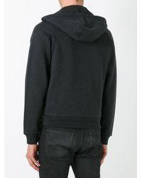 Moncler - Black Logo Plaque Hoodie for Men - Lyst
