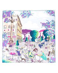 Ferragamo - Multicolor Palazzo Spini Feroni Print Scarf - Lyst
