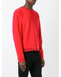 Versus - Red Lion Print Sweatshirt for Men - Lyst