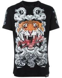 Philipp Plein | Black Philipp Tiger T-shirt for Men | Lyst