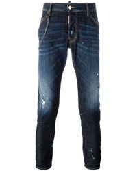 DSquared² | Blue Classic Kenny Twist Chain Trim Jeans for Men | Lyst