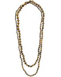 Rosantica | Brown Long Beaded Necklace | Lyst