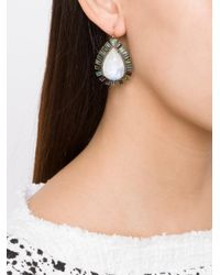 Nak Armstrong - Green Drop Earrings - Lyst