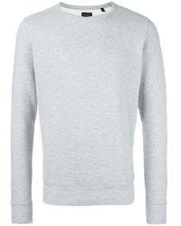 DIESEL | Gray Crew Neck Sweatshirt for Men | Lyst