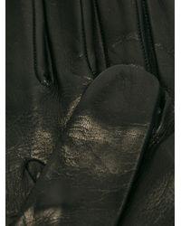 Want Les Essentiels De La Vie - Black Zip Detail Gloves - Lyst