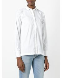 Brunello Cucinelli - White Band Collar Shirt - Lyst