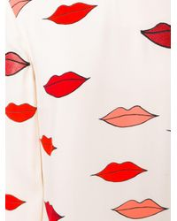 Victoria, Victoria Beckham - Scattered Lips Patch Applique Dress - Lyst