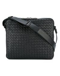 Bottega Veneta | Black - 'interlaced Vn' Messenger Bag - Men - Calf Leather - One Size for Men | Lyst