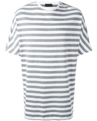 Diesel Black Gold | Gray Striped Boxy T-shirt for Men | Lyst