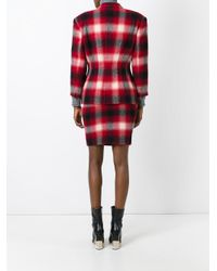 Jean Paul Gaultier - Red Checked Skirt Suit - Lyst