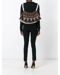 Jean Paul Gaultier - Brown Turtleneck Cropped Cape - Lyst