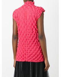 Issey Miyake Pink Sleeveless Origami Top