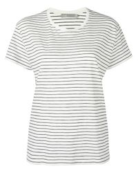 VINCE | White Striped Relaxed T-shirt | Lyst