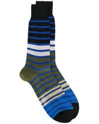 Paul by Paul Smith - Blue Striped Socks for Men - Lyst