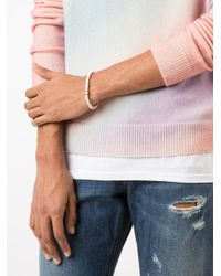 Luis Morais - White Lozenge Scarab Bracelet - Lyst