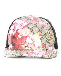 Gucci | Multicolor Blooms Gg Supreme Print Baseball Cap | Lyst
