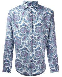 Etro | Blue Abstract Motif Shirt for Men | Lyst