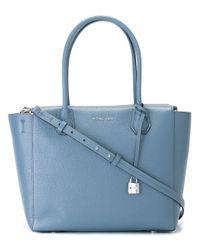 MICHAEL Michael Kors | Blue - Logo Plaque Tote Bag - Women - Calf Leather - One Size | Lyst