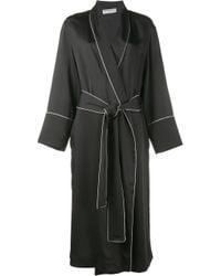 Balenciaga | Black Contrast Piped Robe Jacket | Lyst